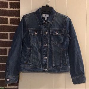 Gap Denim Jean Jacket With Pink Accents